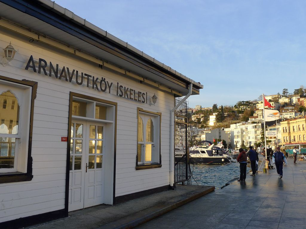 Public ferry pier (iskele in Turkish) of Arnavutköy neighbourhood