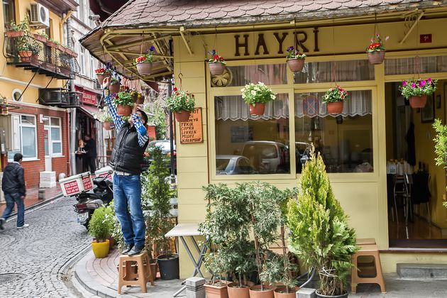 Preparations at Hayri fish restaurant, located at one of the backstreets of Arnavutkoy