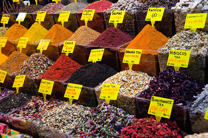 Spice Bazaar is located right next to the New Mosque, Istanbul