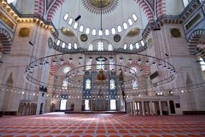 Interior of the Suleymaniye mosque
