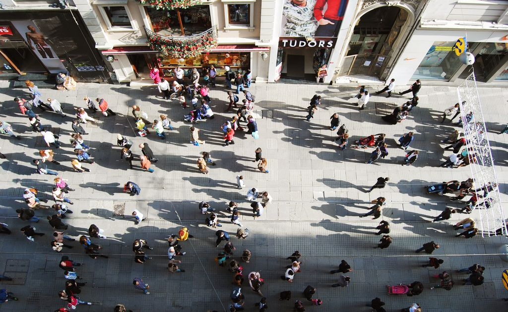 Istiklal Avenue of Istanbul hosts more then three million people everyday