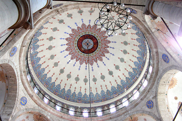 Dome of Eyup Sultan Mosque located near by Pierre Loti Hill.
