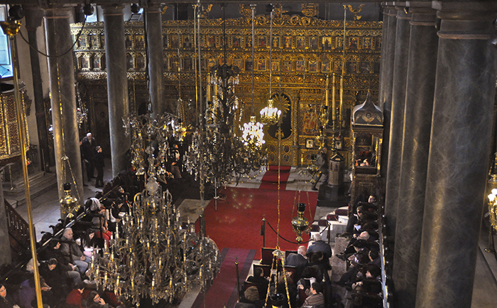 A religious ceremony at Fener (Greek) Orthodox Patriarchate of Istanbul