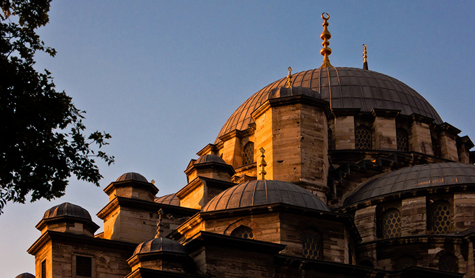 Massive dome of New Mosque (Emionu Camii or Valide Sultan Camii) of Istanbul